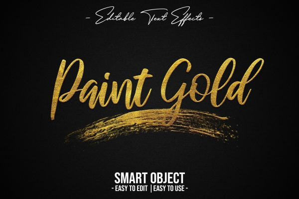 Paint-Gold-Text-Style-Effect