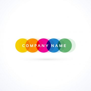 creative colorful vibrant logo vector